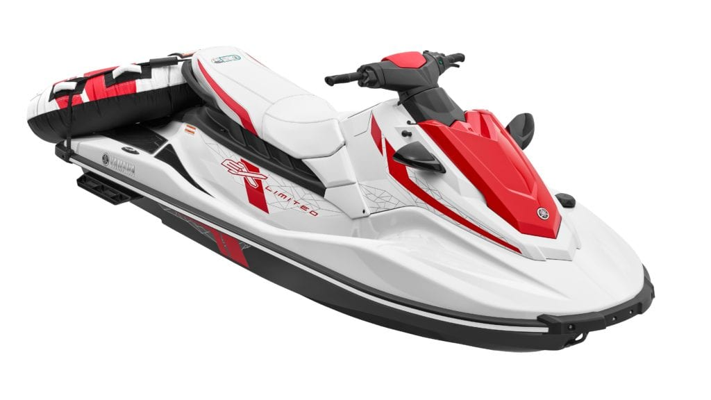 2021 Yamaha EX Limited Waverunner front view with tube